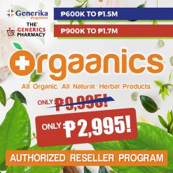 Only ₱2995 Orgaanics Reseller Program