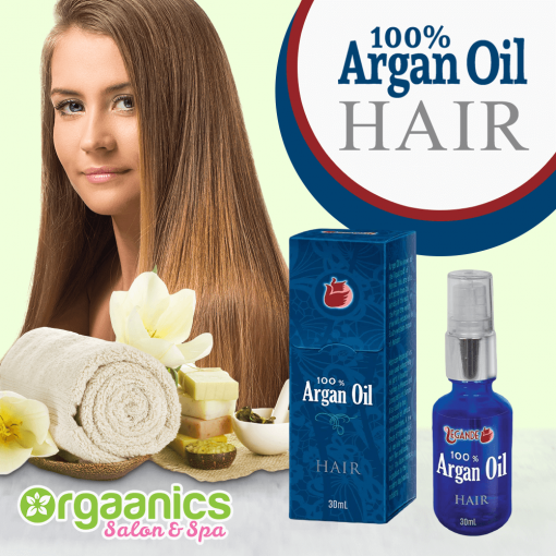 100% Certified Organic Moroccan Argan Oil for the Hair